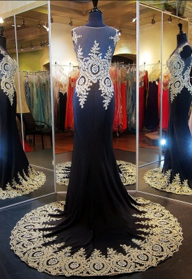 Glamorous Illusion Cap Sleeve Prom Dress With Beadings Appliques_2