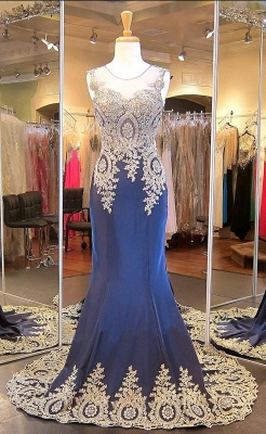 Glamorous Illusion Cap Sleeve Prom Dress With Beadings Appliques_5