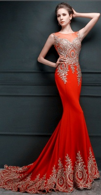 Glamorous Illusion Cap Sleeve Prom Dress With Beadings Appliques_7