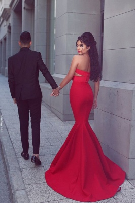 Sexy Red 2020 Mermaid Evening Dress Sweetheart Long MH204_4