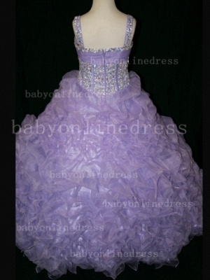 Girls Beauty Pageant Dresses for Girls 2020 Affordable Wholesale Beaded Crystal Gowns Flower_3