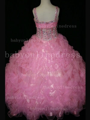 Girls Beauty Pageant Dresses for Girls 2020 Affordable Wholesale Beaded Crystal Gowns Flower_5