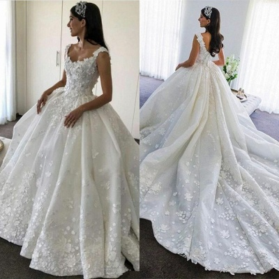 Glamorous Sleeveless 2020 Wedding Dress | Appliques Long Bridal Gowns BA9783_3