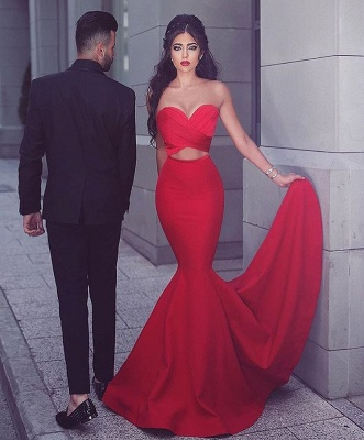 Sexy Red 2020 Mermaid Evening Dress Sweetheart Long MH204_2