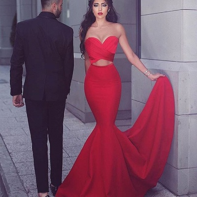 Sexy Red 2020 Mermaid Evening Dress Sweetheart Long MH204_3