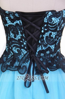 Sexy Sweetheart Sleeveless Cocktail Dress With Lace Appliques Lace-up_5