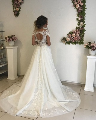 Glamorous Long Sleeve Wedding Dresses   2020 Lace Bridal Gowns Online_3