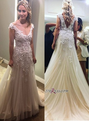 Lace tulle wedding dress, princess bridal gowns 2020_6
