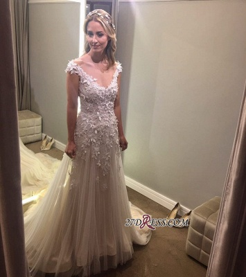 Lace tulle wedding dress, princess bridal gowns 2020_5