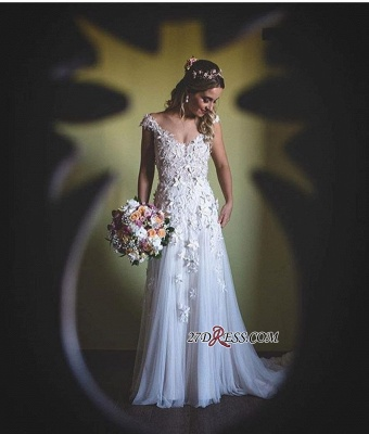 Lace tulle wedding dress, princess bridal gowns 2020_2