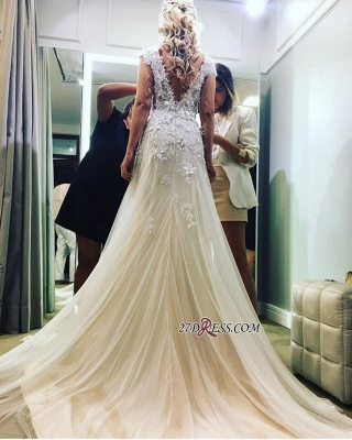 Lace tulle wedding dress, princess bridal gowns 2020_4
