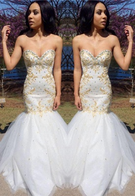 Sweetheart Beadings Prom Dress | Mermaid Long Evening Gowns_2