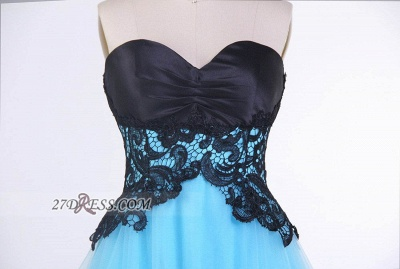 Sexy Sweetheart Sleeveless Cocktail Dress With Lace Appliques Lace-up_3
