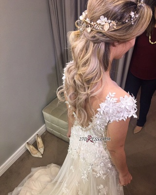 Lace tulle wedding dress, princess bridal gowns 2020_3