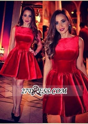 Sleeveless Designer Short Sexy Red Homecoming Dress_2