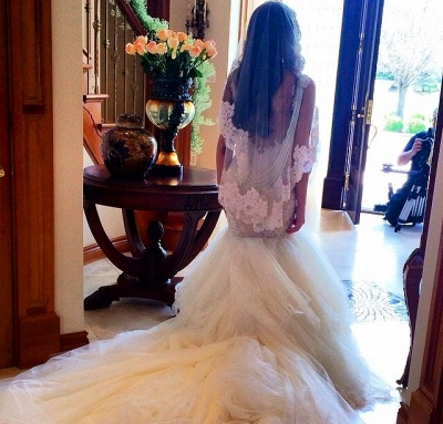 Newest Style Lace Wedding Dress2020 Mermaid Tulle Bridal Gowns_2