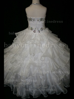 Beaded Cheap Pageant Dresses for Girls Very Online 2020 Crystal Organza Floor-length Gowns Stores_3