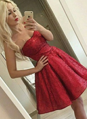Sexy Red Sequins Homecoming Dress | 2020 Mini Party Dress_1