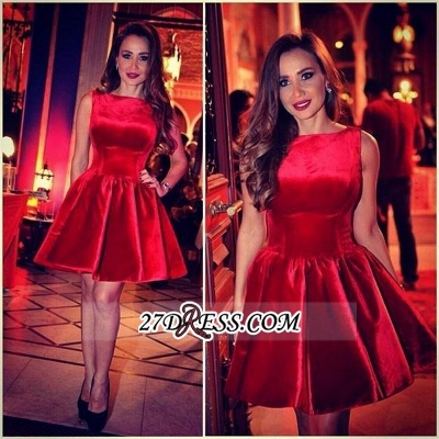 Sleeveless Designer Short Sexy Red Homecoming Dress_3