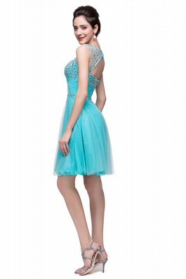 Classic Sleeveless Tulle Short Homecoming Dress With Crystals_4