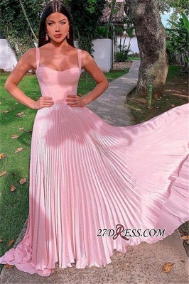 A-line Sweetheart Charming Floor-Length Pink Prom Dresses_1