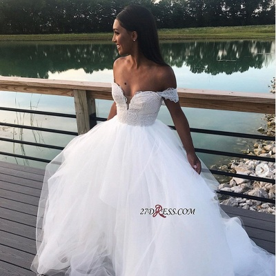 A-line Wonderful Lace Appliques Wedding Dresses