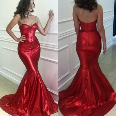 Sexy Red Sweetheart Mermaid 2020 Prom Dresses | Long Evening Party Gowns On Sale BC0576_4
