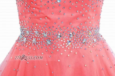 Lovely Illusion Cap Sleeve Short Homecoming Dress Beadings Crystals Zipper Cocktail Gown_4