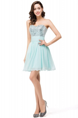 Elegant Sequins Lace-up Homecoming Dress Short Chiffon_2