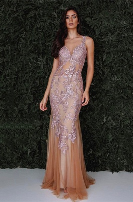 Gorgeous Sleeveless Mermaid 2020 Evening Dress With Lace Designer Tulle Party Gowns_1