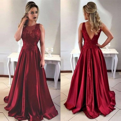 Gorgeous Sleeveless Long 2020 Prom Dress A-Line Lace Party Gowns ba7957_4