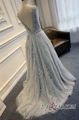 Long A-line Lace-Appliques Backless Sleeveless Prom Dresses BA5343_1