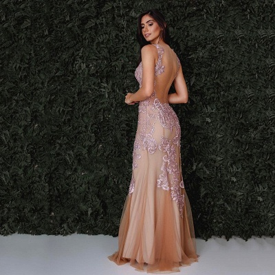 Gorgeous Sleeveless Mermaid 2020 Evening Dress With Lace Designer Tulle Party Gowns_4