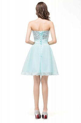 Elegant Sequins Lace-up Homecoming Dress Short Chiffon_3