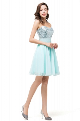 Elegant Sequins Lace-up Homecoming Dress Short Chiffon_5