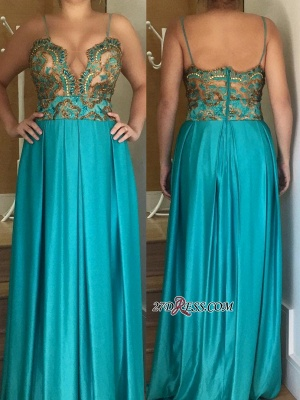 Spaghetti straps long prom dress, 2020 women's party dress_2
