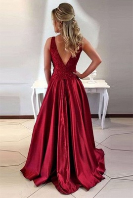Gorgeous Sleeveless Long 2020 Prom Dress A-Line Lace Party Gowns ba7957_3