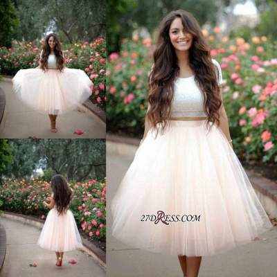 2020 Lace Two-Pieces Tulle Cheap A-line Short-Sleeves Homecoming Dress_3