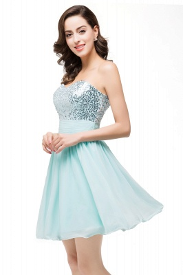 Elegant Sequins Lace-up Homecoming Dress Short Chiffon_6