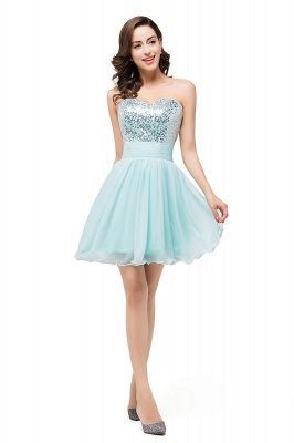 Elegant Sequins Lace-up Homecoming Dress Short Chiffon_4