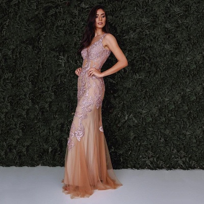 Gorgeous Sleeveless Mermaid 2020 Evening Dress With Lace Designer Tulle Party Gowns_3