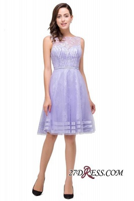 2020 Sleeveless Lavender Lace Short A-Line Mini Homecoming Dress_7
