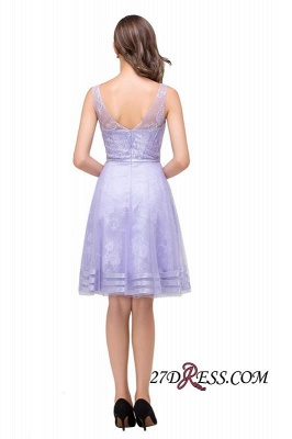 2020 Sleeveless Lavender Lace Short A-Line Mini Homecoming Dress_6