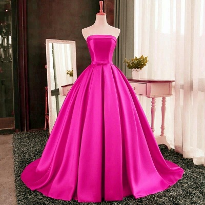 Sexy Strapless 2020 Prom Dress Long Womens Evening Party Dress_2