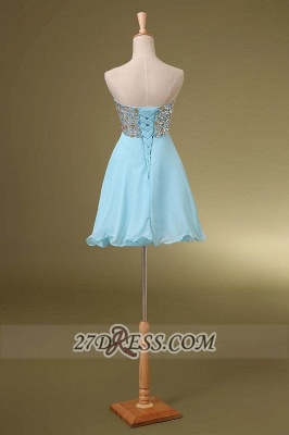 Sexy Sweetheart Sleeveless Short Homecoming Dress Colorful Beadings Lace-up Chiffon Cocktail Gown_3