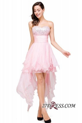 2020 Chiffon A-Line Ruffles Crystal Sweetheart Mini Homecoming Dress_5