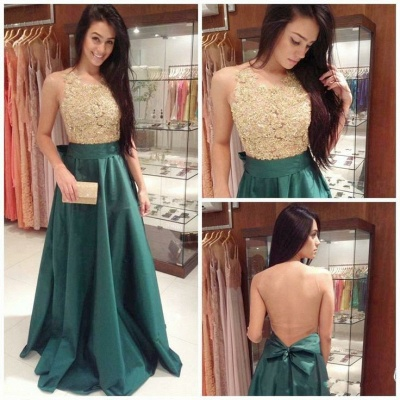 Glamorous Sleeveless Lace Appliques Prom Dress 2020 Long_2
