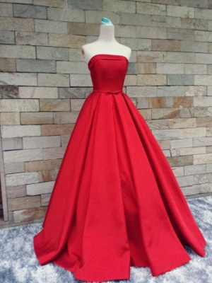 Sexy Strapless 2020 Prom Dress Long Womens Evening Party Dress_5