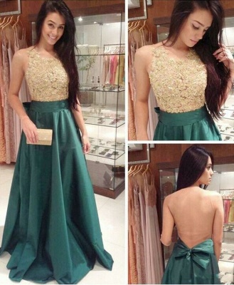 Glamorous Sleeveless Lace Appliques Prom Dress 2020 Long_1