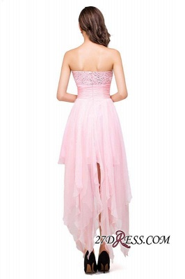2020 Chiffon A-Line Ruffles Crystal Sweetheart Mini Homecoming Dress_6